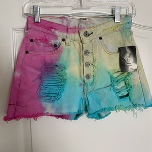 Urban outfitters renewal shorts tie dye